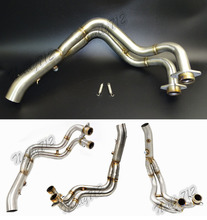 Motorcycle Middle Exhaust Header Pipe Tube Manifold For YAMAHA MT-07 FZ-07 MT07 FZ07 2014 2015 2016