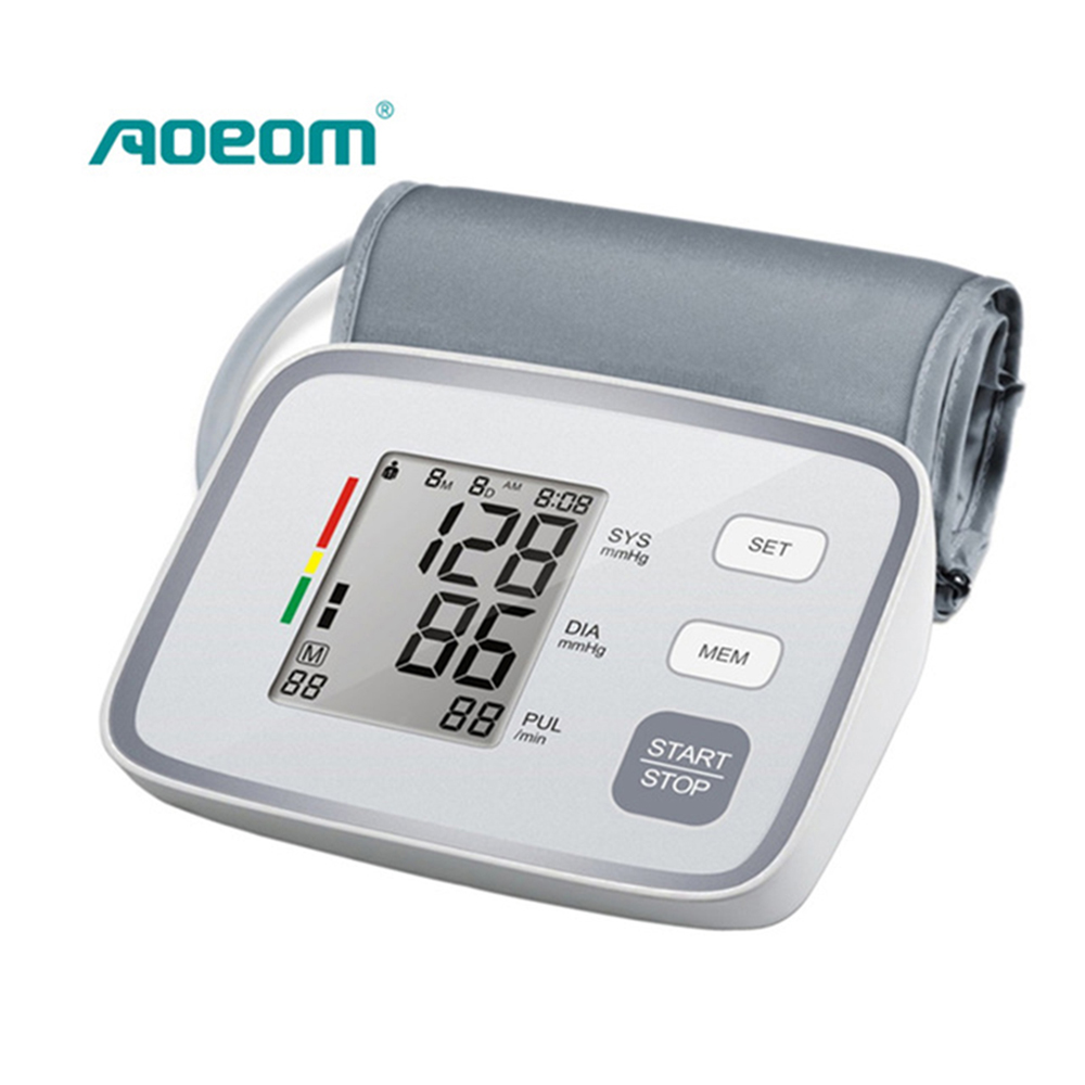 Aoeom Household Electronic Accurate Upper Arm Blood Pressure Monitor Sphygmomanometer Sphygmometer Tonometer upper arm type intelligent voice electronic sphygmomanometerthree color backlight blood pressure instrument household