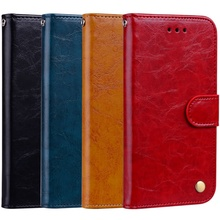 YiKELO Retro Oil Wax Leather Case for Redmi 3s Flip PU Leather Back Phone On Cover for redmi 3 Pro Prime Wallet Stand Card capa