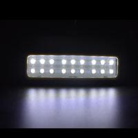 led white car 2X 18smd black LED vanity mirror lamp For BMW F10 F11 F07 F01 F02 F03 Led reading lights bulbs Car-styling auto parts White (2)