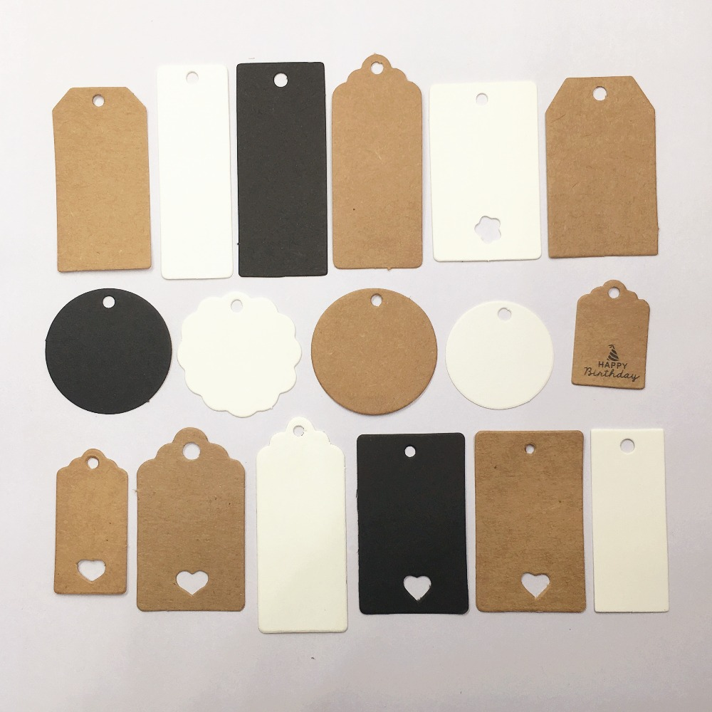 100pcs Paper Multi-style Jewelry Packaging Price Tags,Gifts Boxes Tag Labels Jewelry Hang Tag Paper Cards For Earring/Necklace