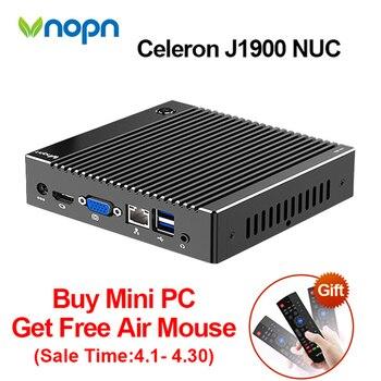 без вентилятора Intel Celeron J1900 Nuc Mini Pc Windows 10 Linux