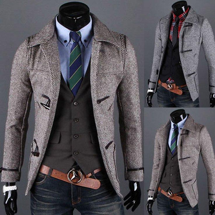 Free Shipping CC215# 2012 New Fashion Brand Tweed Jacket Men ...