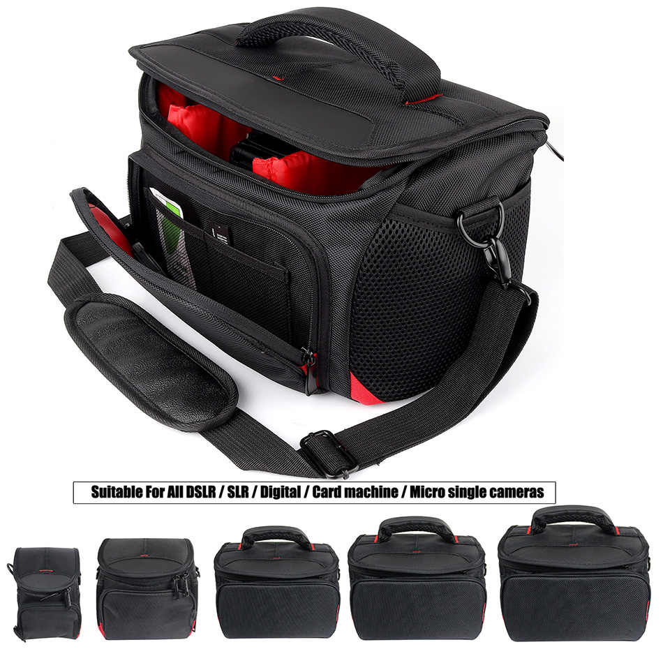 Impermeable DSLR/SLR cámara para Nikon D7200 D5300 D3400 J5 P900 B500 B700 L840 P7800 Sony Canon cámara nikon foto bolsa de lente