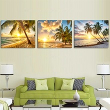 Modern Seaside Sunrise Palm Tree Beach Wall Art Posters and Prints Canvas Paintings on the Wall Home Decoration modern seaside sunrise palm tree beach wall art posters and prints canvas paintings on the wall home decoration