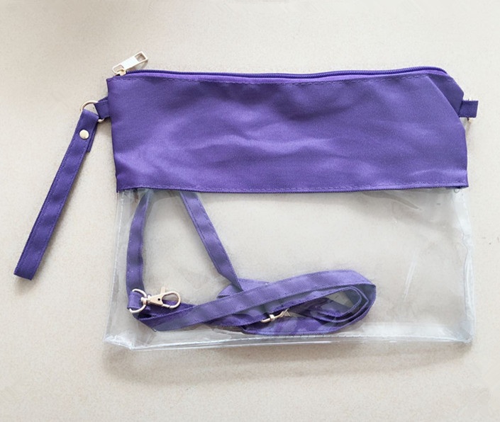 Monogrammed Clear Stadium Bag 100pcs/lot Clear Tote Football Bag Concert Clear Pouch Wholesale