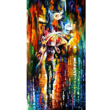 Hand Painted Landscape Abstract Umbrella Knife Modern Oil Painting Canvas Art Living Room hallway Artwork Fine Art