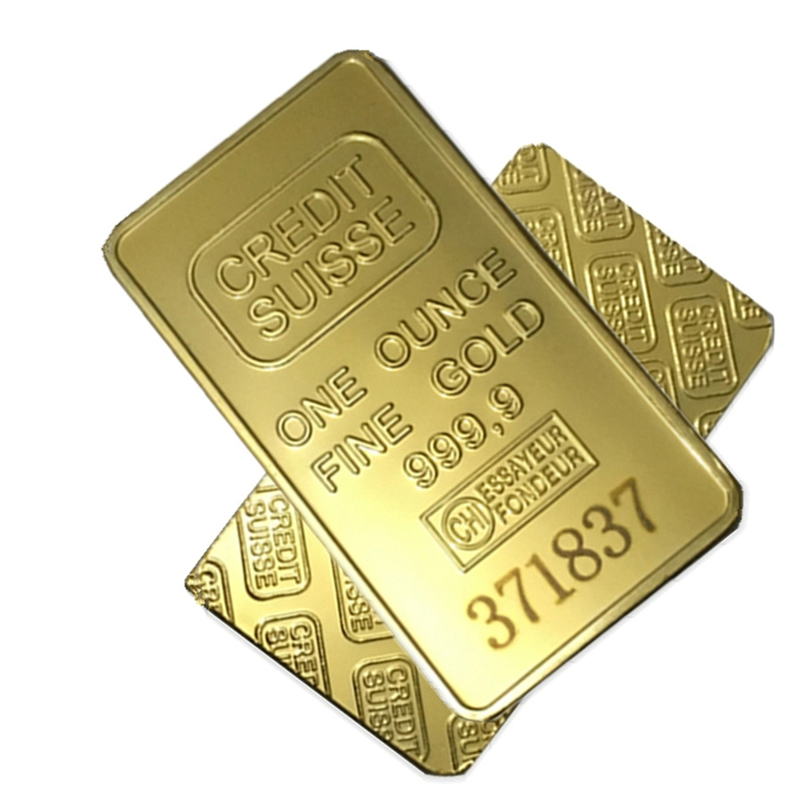 Wholesale 1oz 24ct Gold Plated Credit Suisse Layered