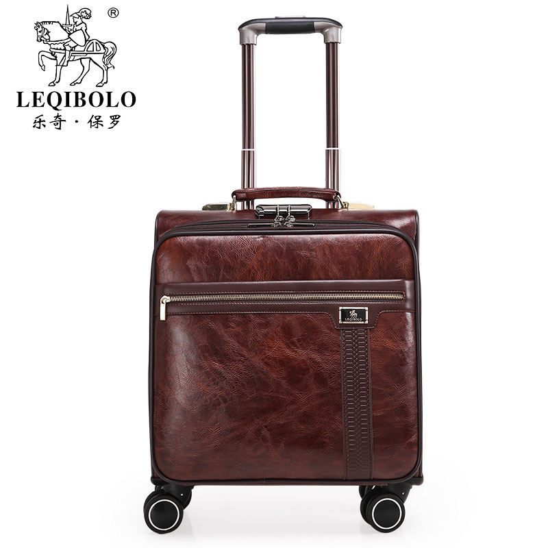 Luggage 18 commercial universal wheels luggage fashion bag soft travel luggage suitcase male trolley luggage universal uheels trolley travel suitcase double shoulder backpack bag with rolling multilayer school bag commercial luggage