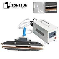 ZONESUN 400mm Pliers Sealer Hand Folding Machine Portable Sealing Machine suitable for aluminum vacuum composite film