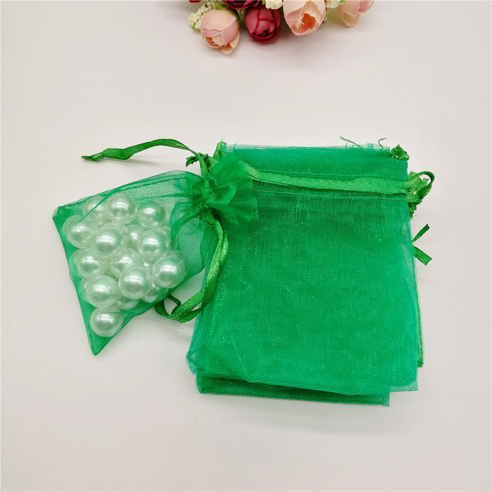 100pcs Gift Bag Organza Packaging Bag Organza Gift Bags White Christmas Favor Party Wedding Decoration Jewelry Gift Pouches Bags in Gift Bags Wrapping Supplies from Home Garden