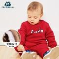 Рождественская Одежда для новорожденных; коллекция 2018 года; зимняя одежда для маленьких мальчиков; комплект одежды; костюмы для маленьких д...