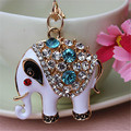 Rhinstone elephant crystal keychain crystal hand Bag charms  for Bag/Car Hanger Decoration Keyring  Gifts YSK-146