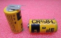 HOT NUOVA batteria al litio CR2/3 8.L CR2/3A PLC controllo industriale 3 V Li-Ion con gamba