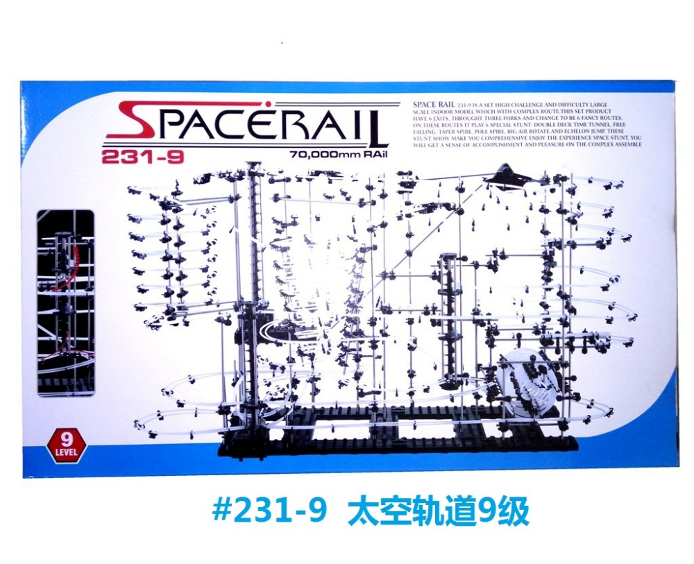 Space Rail King #231-9 Classsic Roller Coaster Level-9 Intellgent Chanllenging DIY Toys & Building Blocks As Gifts