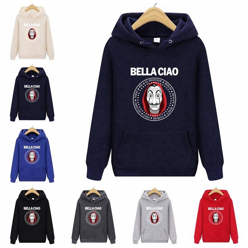 Nova primavera Com Capuz Camisolas de Jogos Casa de Papel Dinheiro Assalto La Casa de Papel Hoodies Para Homens Mulheres Plus Size jaqueta jogo 0021
