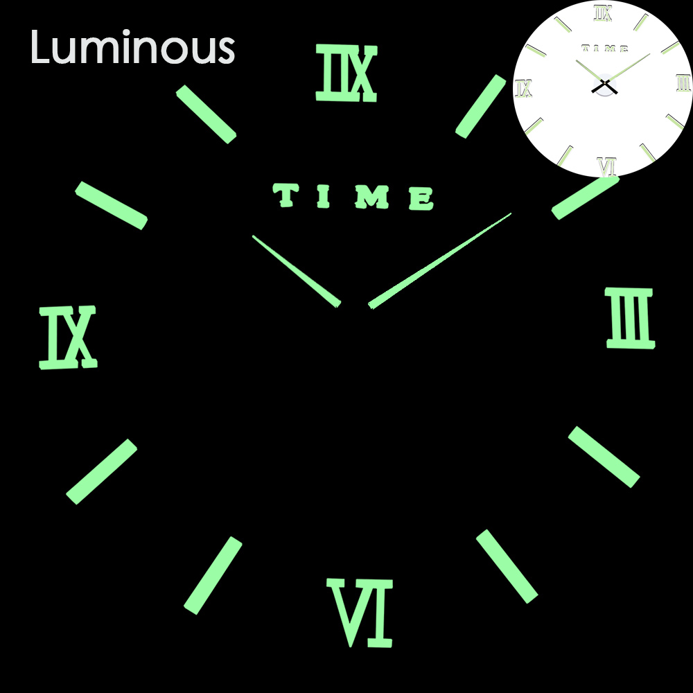 27 различных дизайнов светящиеся настенные часы современный дизайн настенные цифровые большие Big3D DIY модные Saat Reloj Horloge klok - Цвет: wall clock 8