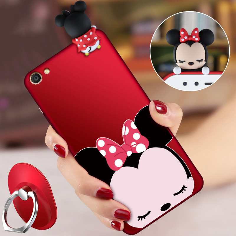 VIVO Y83 Case,ALIVO Cartoon 3D Cute Minnie Mickey mouse Full Protection Silicone Fitted Case with Lanyard for VIVO Y97 6.3