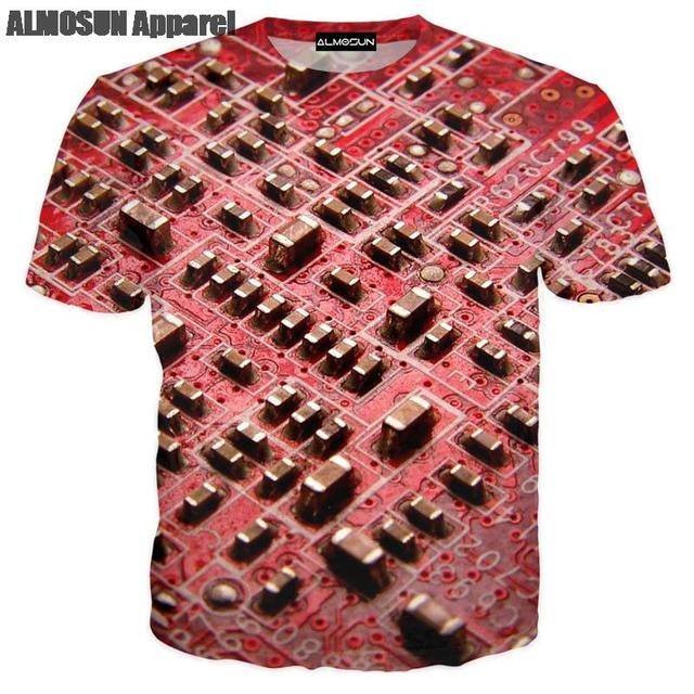 US $10.39 35% OFF ALMOSUN Programmer Code CPU 3D All Over Print T Shirts Short Sleeve Hipster Computer Shirts Hip Hop Tee Unisex in ALMOSUN Programmer