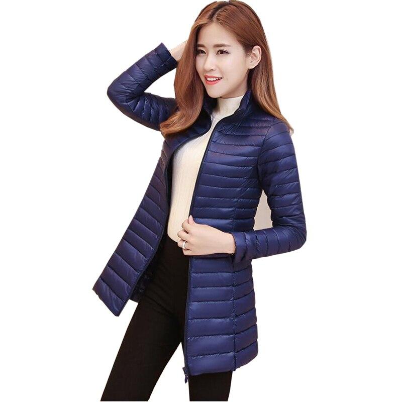2018 New plus Size Autumn winter Jacket Women Fashion 90 % White Duck   Down   Jackets Ultra Light Zipper   Down     Coats   Slim Outwear
