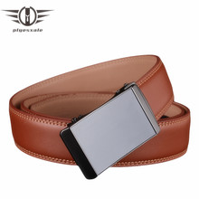 Plyesxale Men Belt Genuine Leather Designer Belts For Men 2018 Automatic Buckle Strap Male Metal Brand Mens Belts Luxury G64(China)