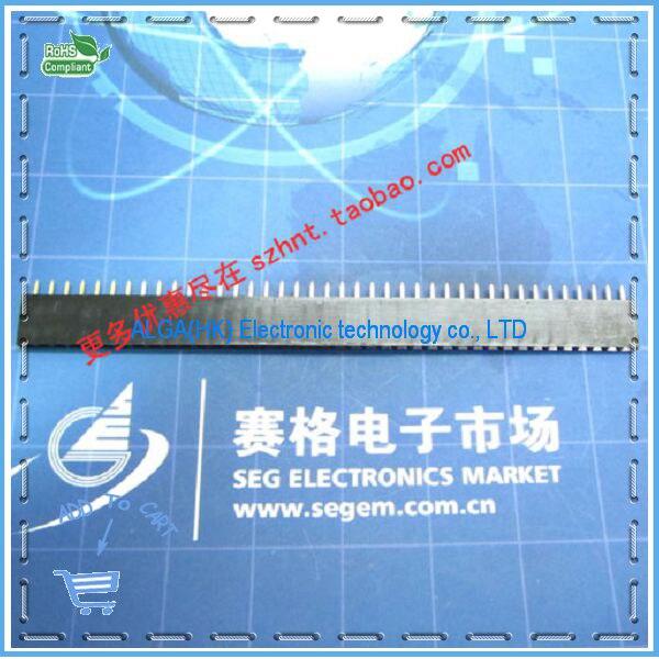 Free shipping .Single-row seat socket single-row female Pitch 2.54MM 1 * 40P single-row needle seat