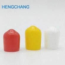3 ألوان 8 مللي متر غطاء مطاطي غطاء مطاطي s الغبار غطاء ل RCA موصل مقبس أنابيب معدنية 99 قطعة/الوحدة