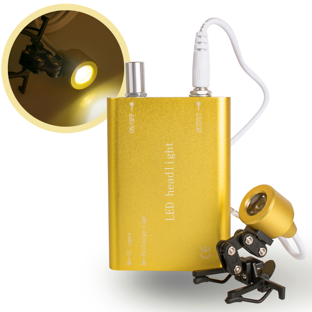 Portable Yellow Head Light Lamp for Dental Surgical Medical Binocular Loupe цена 2017