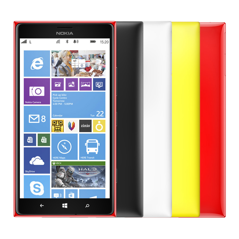 "Nokia Lumia 1520  cell phone 6.0"" IPS 20MP Camera Quad Core 16GB ROM Bluetooth 4.0 GPS 3G 4G band Free Shipping 1 year warranty"