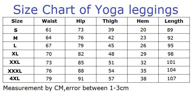 JIGERJOGER7 sizes plus size women-s-Leggings size chart