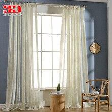 Rayas moderno Ventana Persianas Cortinas Para la Sala de estar Bordado de Oro Rosa de Lujo de Tul Pura Para El Dormitorio Panel de Tamaño Personalizado