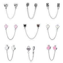 DIY  charms plata de ley 925 original bracelet jewelry valentine's day mary poppins bijoux sieraden wicca beads jewellery цена