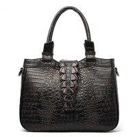 2017 Famous Brand Women Bag Genuine Leather Handbags Luxury Designer Ladies Crocodile Shoulder Bag Hign Quality