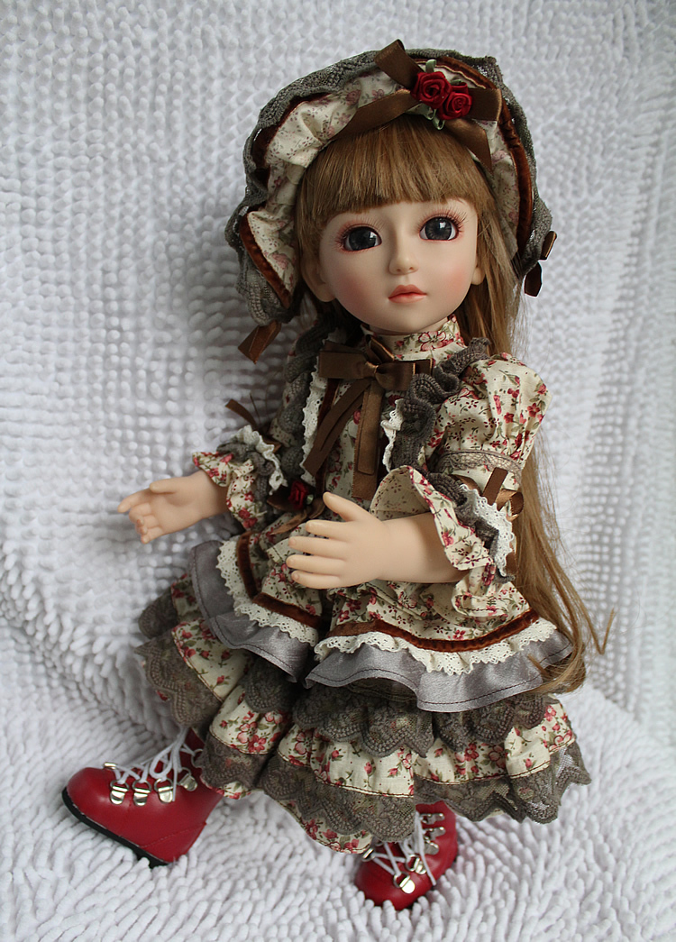 Beautiful SD/BJD doll 18inch top quality handmade doll poseable with joints good for children and birthday present hot newest 18 inch handmade vinyl doll bjd doll with dress beautiful princess doll toy for children christmas gift