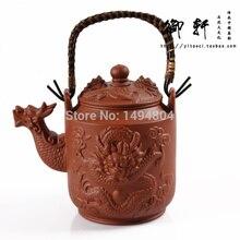 Tee-Set 700 ML Chinesische Yixing Größere Teekanne, Drachen Teekanne, handgemachten Tee Sets, China Kung Fu Teaset, Echtes Lila Ton Tee Wasserkocher