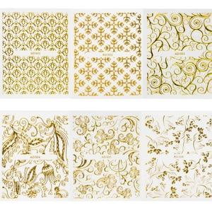 Image 2 - 20แผ่นทอง3dสติกเกอร์เล็บสติ๊กเกอร์Decalsแบบผสมกาวดอกไม้ตกแต่งเล็บSalonอุปกรณ์เสริมLAAD301 326
