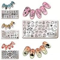 6 Sheets Set 12 6cm Nail Art Stamp Template Image Plate Harunouta L012 017