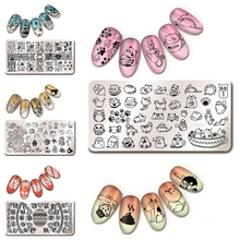 6 Sheets/set 12*6cm Nail Art Stamp Template Image Plate  L012-017