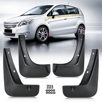 New 4pcs Set Flexible ABS Plastic Mud Flaps Splash Guards Mudguard For Chevrolet Sonic Aveo 2011