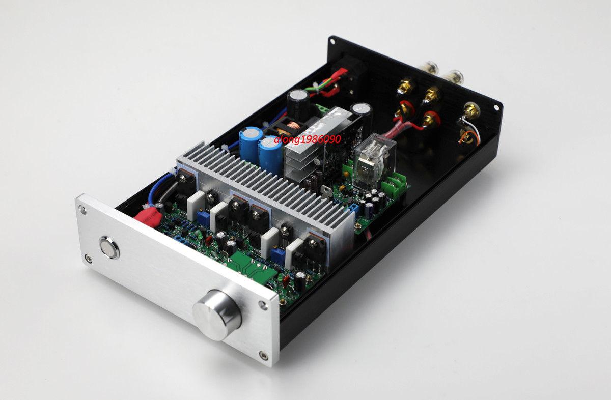 GZLOZONE Finished HIFI NAP250 MOD Stereo Power amplifier 80W 80W desktop Audio amp L9 16
