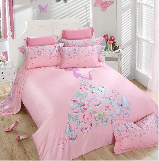 High Quality 100 Silk Pink Blue Green Butterfly Princess