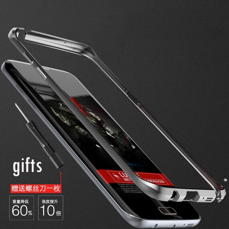 Цена за Для S7 противоударный Luphie бренд ультра тонкий встроенный eva металлический бампер для Samsung Galaxy S7