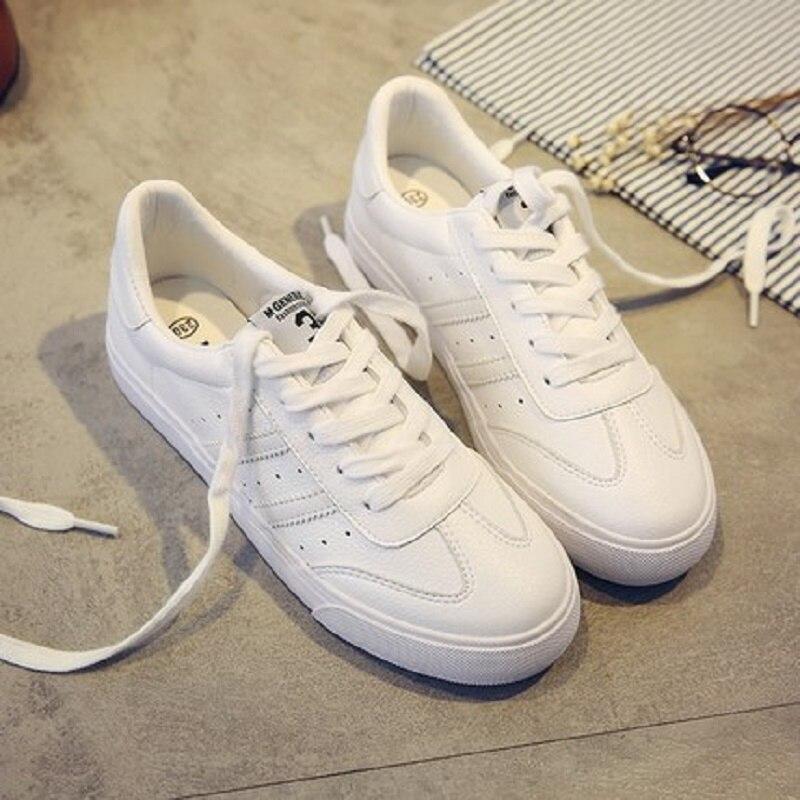 Chaussures Femelle Sauvage 2 Printemps Américain Femmes Européen Et De 1 Étudiantes 3 Vulcanisé Nouvelle Plat Blanc Casual fxgq8Igw5