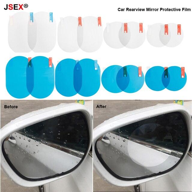 2 шт./компл. автомобиля зеркало заднего вида защитный плёнки мотоцикл окна непромокаемые Авто прозрачная наклейка анти туман мембраны водонепрони