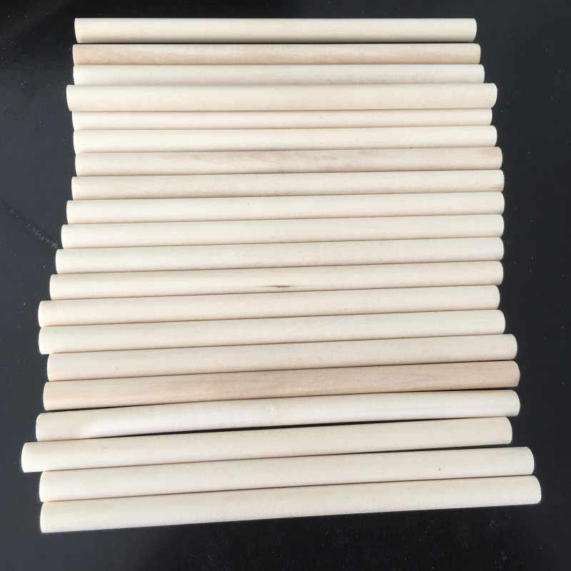 10 adet tahta çubuklar DIY ahşap el sanatları dişli sopa mandal sopa tatlı kutup ağaçları ahşap alet 14CM sopa