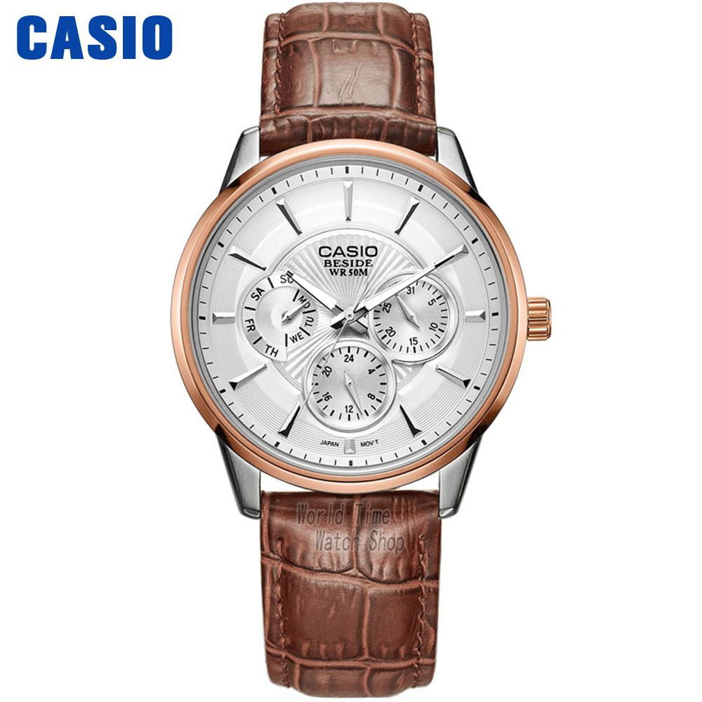 Casio watch Fashion casual men's three-dimensional quartz watch BEM-302L-7A BEM-307L-7A casio sheen multi hand shn 3013d 7a