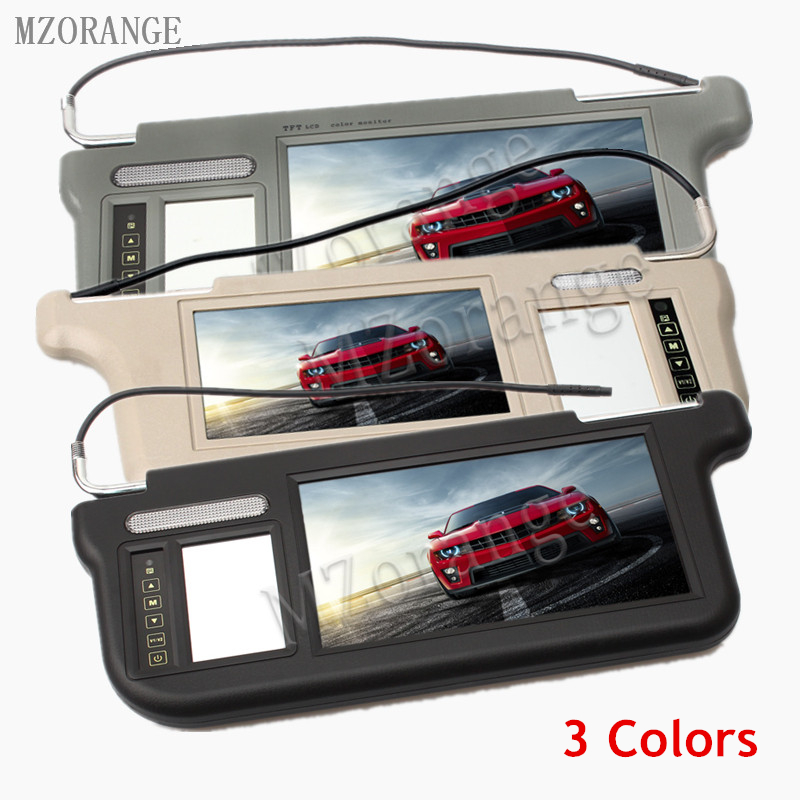 MZORANGE Touch 9 inch 800X480 Resolution 3 Colors Car Sun visor Monitor Dual video DVD/TV Media Screen Remote Control 1 Piece