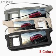 Viseira de carro monitor 9 polegadas 3 cores, viseira solar automotiva, vídeo duplo dvd controle remoto da tela/de tv