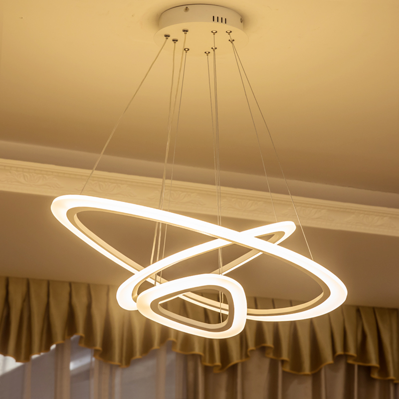 Modern LED ring chandelier lights for living room dining room lampadario moderno Lustre Chandelier Lighting Fixtures AC85-265V led modern chandelier light led circle ring chandelier for home living lighting dimmable and nondimmable ac85 265v free freight