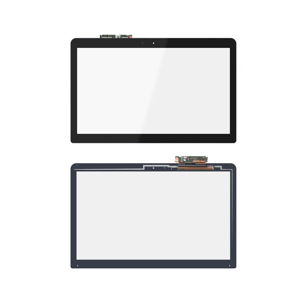 15.6'' Laptop Touch Screen Digitizer Glass With Touch Control Board For Asus N543 N543U N543UA 100 1360 touch screen touch board touch glass 26785f1 12188